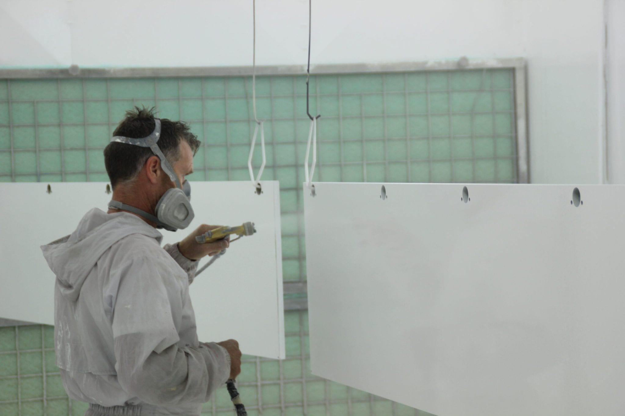 wit spuitwerk door Bart Dijkhof
